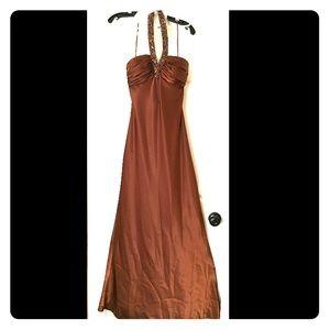 Satin Brown Formal Dress